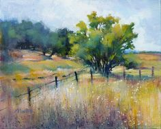 "Daily Paintworks - ""Oil Study - Original Fine Art for Sale - © Barbara Benedetti Newton Pastel Landscape, Landscape Art, Landscape Paintings, Watercolor Trees, Watercolor Landscape, Pastel Art, Pictures To Paint, Acrylic Art, Art Plastique"