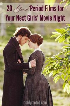 a good period film to watch? Here are 20 romantic period pieces to choose from for your next girls' movie night! -Need a good period film to watch? Here are 20 romantic period pieces to choose from for your next girls' movie night! Jane Eyre, Period Drama Movies, Period Dramas, Period Piece Movies, Best Period Movies, Romantic Period, Budget Planer, Movies Worth Watching, Chick Flicks