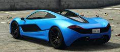 Blue Progen T20 GTA 5 Rear Quarter View