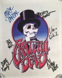 Grateful Dead Skeleton and Top Hat Pelon, Signed by the whole band. Estimate: $6000-7000