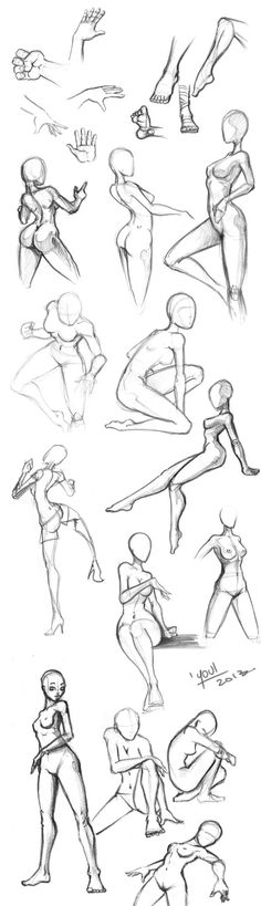 Youl Sketches Juin2013 Poses by YoulDesign by joni