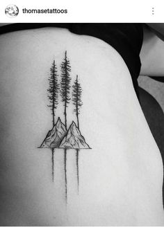 Trees and Mountains Tattoo … More