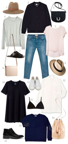 Style&Minimalism | Shopping List | Slow Fashion | 1. Janessa Leoné Clay Fedora in Light Brown | 2. Sunspel Vintage Wool Bomber Jacket | 3. A.P.C. Sac Soho Shoulder Bag in Black | 4. Filippa K Light Silk Pullover in Grey | 5. Cuyana Silk Tee in Blush | 6. Crippen Lover Jean in Light Vintage | 7. ATP Atelier Rosa Sandals in Black | 8. SGB Goods Natural Petite Messenger Bag | 9. Prymal Waterdrop Beige Toquilla Hat | 10. Kowtow Building Block Swing Dress in Black | 11. Veja Esplar Low Leather…