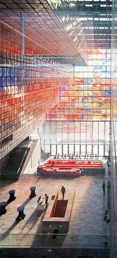Netherlands Institute for Sound and Vision . By Willem Jan Neutelings and Michiel Riedijk. Facade in Crea-Lite.