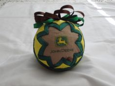 Assorted quilted ball ornaments by specialstitchesbyann at etsy.com Quilted Christmas Ornaments, Fabric Balls, Ball Ornaments, Origami, Patches, Holiday Decor, Etsy, Xmas, Origami Paper