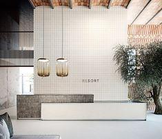 Gallery of Porcelain Tiles - Ronda - 2 Dental Office Design, Office Interior Design, Office Interiors, Modern Interior, Hotel Lobby Design, Schönheitssalon Design, House Design, Office Reception Design, Reception Counter Design