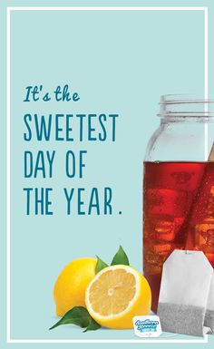 Celebrate National Sweet Tea Day with Southern Breeze Sweet Tea. To make National Sweet Tea Day even sweeter, all you need is Southern Breeze. Don't believe us? Click on the pin to see all of our delicious sweet tea recipes that can make your August 21 the sweetest day of the year.