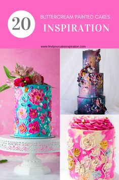 Buttercream Painted Cakes