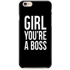 Girl You are the Boss iPhone 6/6S Case, Funny Quote iPhone SE Case,... ($8.95) ❤ liked on Polyvore featuring accessories, tech accessories, phone cases, phone, case, black, slim iphone case, apple iphone cases, iphone cases and iphone cover case
