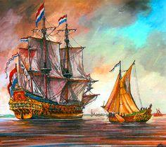 Dutch Ship De Zeven Provinciën 1665
