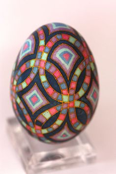 Katyegg Design: Friday Egg: Stained Glass Quilt