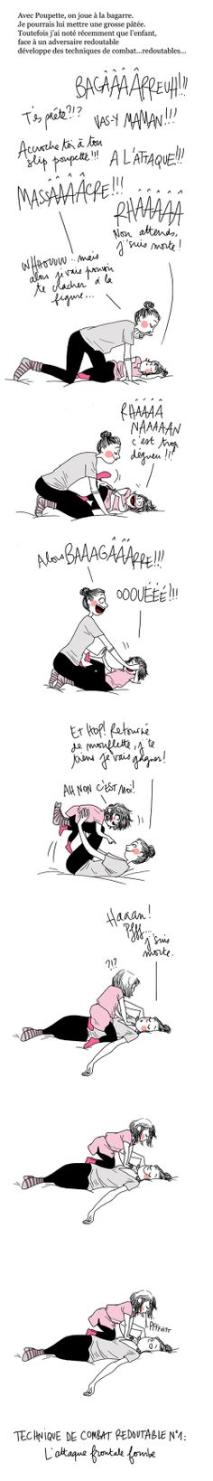 So cute, and it's a chance to practice my FRENCH! Make Em Laugh, Make Me Smile, Haha, French Illustration, Super Mum, Body Sketches, Funny Drawings, Girls Life, Amazing Grace