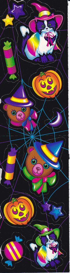 Vintage Lisa Frank Halloween Sticker Mods by NovasNickNacks! Art Halloween, Halloween Stickers, Halloween Themes, Halloween Pictures, Vintage Halloween, Stitch Games, Lisa Frank Stickers, Clip Art, Spooky Scary
