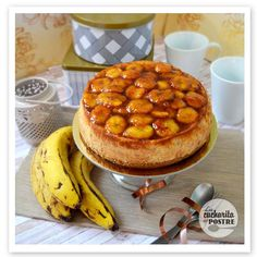 Increíblemente rica es esta cheesecake de plátano que nos enseñan a preparar con todo detalle desde el blog LA CUCHARITA DEL POSTRE.