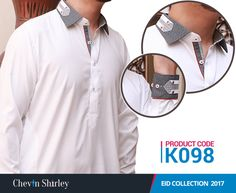 Chevin Shirley Men Eid Shalwar Kameez are the classic style of cotton shalwar kameez dresses for boys that are launched for this Eid Ul Fitr and festive season. Mens Sherwani, Kurta Men, African Shirts For Men, African Clothing For Men, Mens Kurta Designs, Salwar Designs, Designer Suits For Men, Designer Clothes For Men, Men Clothes