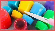 العجين | عجين اصطناعي | قوس قزح جيلي | الاطفال الأوساخ تلعب Rainbow Jelly