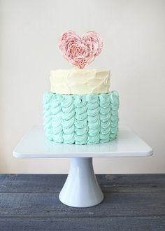 Beautiful Cake Pictures: Turquoise French Buttercream Cake: Birthday Cakes, Cake Toppers, Wedding Cakes