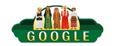 Saudi Arabia National Day 2017  Date: September 23 2017  The 23rd of September is celebrated in Saudi Arabia as National Day commemorating the countrys unification by King Abdul Aziz Al Saud in 1932.  Todays Doodle showcases the kingdoms rich cultural heritage through the lens of national dress. The white thobe and black abaya symbolize everyday Saudi life. But venture out a bit further and youll find treasures and color galore...  Ceremonial attire in Hijaz in Western Saudi Arabia is white…