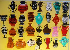 students' greek urn- inspired paintings by LisbethBula, via Flickr