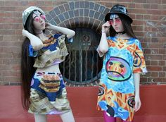 NO FRILLS TWINS WORE TEIN CLOTHING <3  WWW.TEINCLOTHING.COM