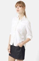 Topshop Button Front Chambray Shirt