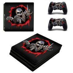 915a97bdd67 Metal Skeleton PlayStation 4 pro skin decal for console and controllers