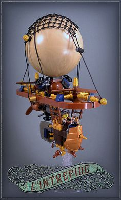Lego and steampunk, just perfect ! Pretty sure the ballon is not official ;) #LEGO #Steampunk