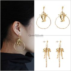 Get this Gold Plated Tiger Hoop Earrings for the stylish ladies on this Valentine's Day for yourself or your dearest one. If your wife or girlfriend doesn't have a pair of these gold plated Tiger Hoop earrings, consider surprising her with this latest creative and stylish designed earring from Gosia Orlowska Designs on this Valentine's Day: https://www.etsy.com/hk-en/listing/246725523/