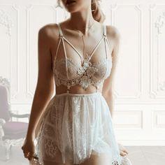 Mya | White Bridal Lingerie By FemCODES.com Bridal Lingerie, Luxury Lingerie, Lingerie Set, Lace Decor, Lace Babydoll, Wattpad, White Bridal, Lingerie Collection, Clubwear