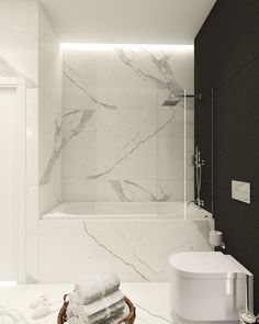 Modern bathroom inspiration with marble, round mirrors and black and white – Ch… – Marble Bathroom Dreams Small Bathroom Colors, Small Bathroom Vanities, Bathroom Spa, Master Bathroom, Bathroom Showers, Bathroom Ideas, Rental Bathroom, Bathroom Mirrors, Washroom