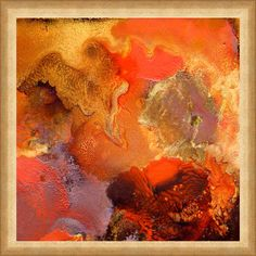 Large Abstract Painting ''Boiling Lava'' Earth by JuliaApostolova