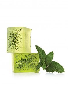 Mint Soap  Since the days of ancient Egypt, people have valued mint for its invigorating menthol scent and its health benefits. Today the herb is used to relieve painful or itchy skin.