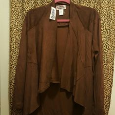 Jacket Faux suede look zip shirt/ jacket. It's really in this season!! Goes with skirts,jeans ..anything!! NWT oliver Jackets & Coats