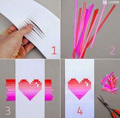 Como fazer cartão para namorada em formato de coração | Revista Artesanato