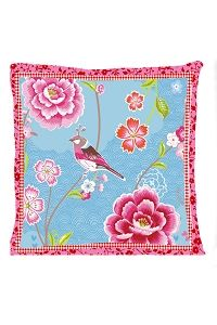 PiP Birds in Paradise blue cushion