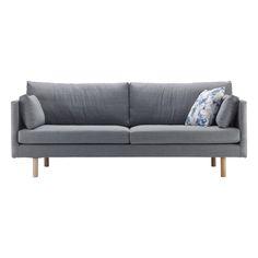 LITE, 3h-sohva, Canvas-kangas harmaa / Isku