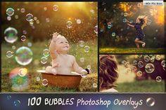 100 Bubbles Photoshop Overlays by MixPixBox on @creativemarket