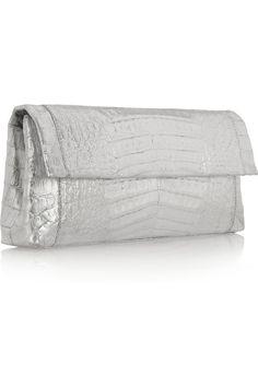 Nancy Gonzalez Metallic crocodile clutch NET-A-PORTER.COM