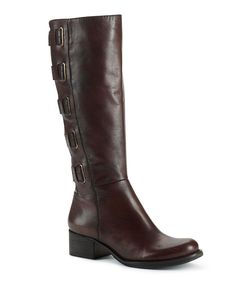 Take a look at this Dark Chocolate Leather Skylar Boot on zulily today!