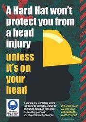 Hard Hat Safety Poster Thumbnail Safety Posters Occupational Health And Safety Health And Safety Poster