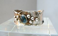 Labradorite+and+Sterling+Silver+Cuff+by+pmdesigns09+on+Etsy,+$164.00