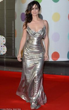 Bérénice Marlohe in Donna Karan at the Brit Awards red carpet