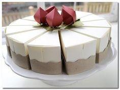 Molde de caja de regalo con forma de pastel