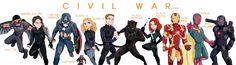 Captain America: Civil War Official Lineup!! :) so far, at least.