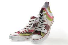 #KickinItAppleCheeks #3 Colorful High Tops. Loves these cause they make me think of Neapolitan/Spumoni ice cream. YUM!