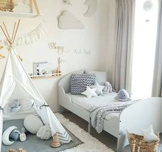 Teepees, cushions, blankets, and lots of other designs for a kid's bedroom.
