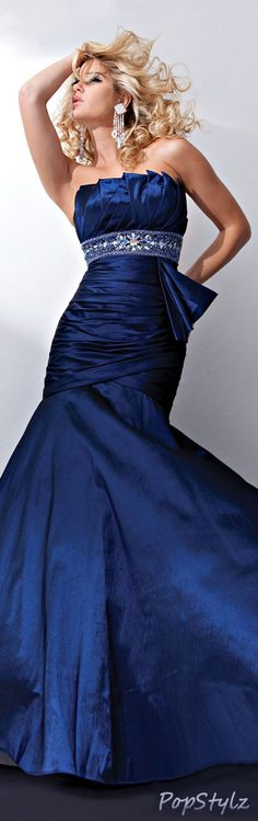Tony Bowls Beautiful Blue Gown