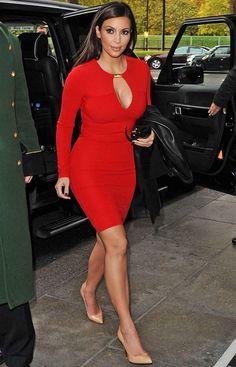 kim kardashian vestido vermelho