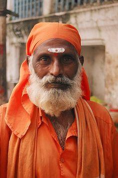 Sadhu (Hindu holy man), Varanasi, India