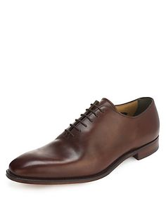 Best of British Leather Lace Up Almond Toe Shoes | M&S.   Made by Cheaney's; Whole cut, the simplest and cleanest form of welted shoe. Requires a fine leather with no defects or blemish